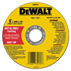 Type 1 Metal Cut-Off Wheel, 6in