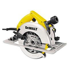 Heavy-Duty Circular Saw, Rear Pivot Depth of Cut, Electric Brake