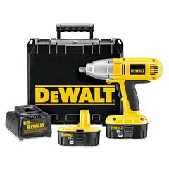 "DeWalt DW059K-2 XRP Cordless Impact Wrench Kit, 1/2"" Drive, 300ft/lb Torque, 1, 650rpm"