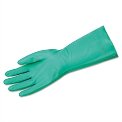Unsupported Nitrile Gloves, Flocked Lined, Size 11