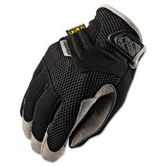 Padded Palm Gloves, Black, Large
