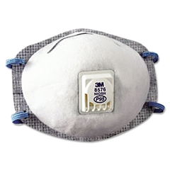 N95 Particulate Respirator, Half Facepiece, Oil Resistant, Fixed Strap