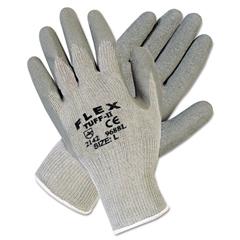 FlexTuff Latex Dipped Gloves, White/Blue, Large