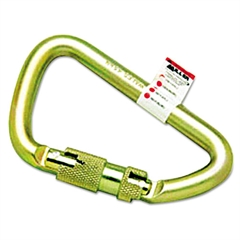 "Twist-Lock Carabiner, 1"" Spring-Loaded Gate, 4 1/2 x 2 3/4"