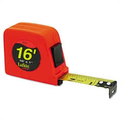 "Lufkin Hi-Viz Series 1000 Power Return Tape, 1"" x 16ft, Orange"