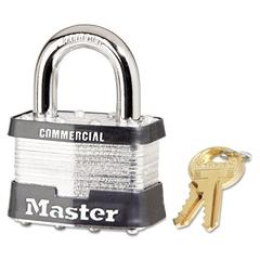 Master Lock No. 5 Laminated Steel Pin Tumbler Padlock, 4 Pin