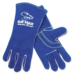 Premium Quality Welder's Gloves, 13in, Blue