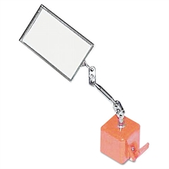 "Ullman Heavy Duty Inspection Mirror, 2 1/8"" x 3 1/2"", Magnetic Base"