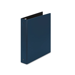 "Economy Non-View Binder with Round Rings, 11 x 8 1/2, 1 1/2"" Capacity, Blue"