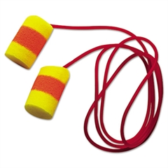 E·A·R Classic SuperFit 33 Single-Use Earplugs, Cordless, 33NRR, Yellow/Red