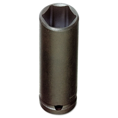 "PROTO Torqueplus Deep Impact Socket, 3/8"" Drive, 9/16"" Opening, 6-Point"