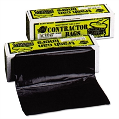 Warp's Heavyweight Contractor Bags, 36 x 56, 55gal, 3.0 Mil, Black