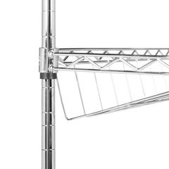 LIDIA CHROME WIRE ADJUSTABLE SHOE RACK (29.5 in. W x 9.8 in. D x 33.5 in. H)