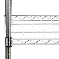 BETSY CHROME WIRE ADJUSTABLE GARMENT RACK (47.2 in. W x 17.7 in. D x 59.1 in. H)
