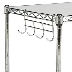 LUCIEN 2 TIER CHROME WIRE MICROWAVE RACK (19.7 in. W x 11.8 in. D x 23.6 in. H)