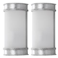 FLORENCE 12-INCH H SILVER WALL SCONCE