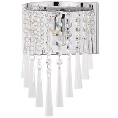 TILLY CHROME 10-INCH H BEADED WALL SCONCE