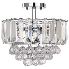 VAXCEL 3 LIGHTS CHROME ACRYLIC 13.5-INCH DIA FLUSH MOUNT