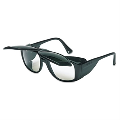 Horizon Flip-Up Safety Glasses, Black Frame, Clear/Shade 5.0 Lenses