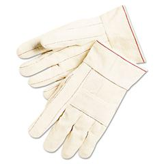 Memphis 1000 Series Canvas Double Palm and Hot Mill Gloves, PVC Dots