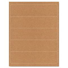 """Binder Spine Label - 2"""" Width x 8"""" Length - 125 / Pack - Rectangle - 5/Sheet - Kraft - Inkjet, Laser - Brown Kraft"""