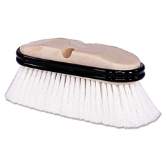 Weiler Truck Wash Brush, O Handle, Flagged, White, 9-1/2""