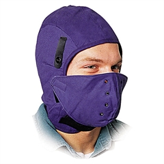 North Safety Deluxe Fire-Retardant Hard Hat Winter Liner w/Face Protection