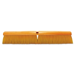 Magnolia Brush No. 19 Floor Brush, w/M60 Handle, Plastic Fill, Yellow, 24w x 60h