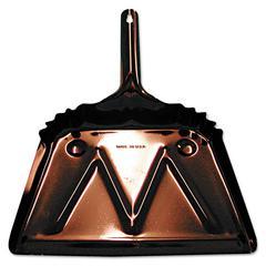 Metal Dust Pan, 12in Edge, Black