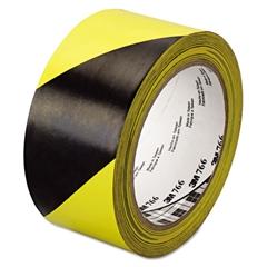 """766 Hazard Warning Tape, Black/Yellow, 2"""" x 36yds"""