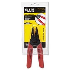 "Wire Stripper/Cutter, 16-26 AWG, 6 1/4"" Tool Length, Red Handle"