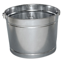 Magnolia Brush Galvanized Pail, 5qt