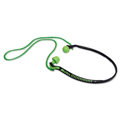Moldex Jazz Band Banded Hearing Protector, 25NRR, Bright Green/Blue