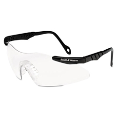 Magnum 3G Safety Glasses, Mini Black Frame, Clear Lens