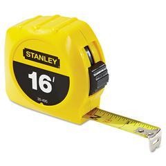 "Stanley Tools Tape Rule, 3/4"" x 7', Plastic Case, Yellow, 1/16"" Graduation"
