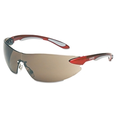 Ignite Eyewear, Red/Silver Frame, Gray Lens