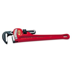 "Cast-Iron Straight Pipe Wrench, 6"" Tool Length, 3/4"" Jaw Capacity"