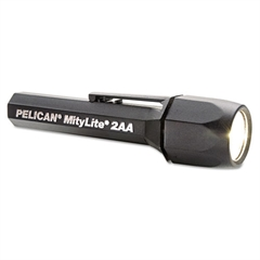 Pelican MityLite SuperDuper Flashlight, 2AA, Black, Xenon