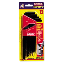 Ball-Hex-L Key, 13-Piece Set, SAE, Black Oxide