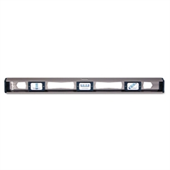 "em81 Series True Blue Magnetic I-Beam Level, 24"" Long, Aluminum, Tri-Vial"