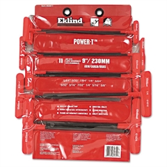 "11-Piece Power-T Ball-Hex Key Set, Vinyl Pouch, 9"" Arm"