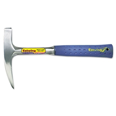 "Geological Rock-Pick Hammer, Pointed Tip, 14oz, 11"" Tool Length, Cushion Grip"