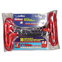 "Eklind 10-Piece T-Handle Hex Kit, 3/32"" - 3/8"", Pouch"