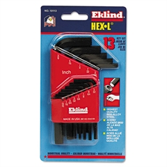 13-Piece Hex-L Key Set, Short-Arm, SAE