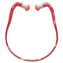 Howard Leight by Honeywell QB3HYG Banded Multi-Use Earplugs, 23NRR, Red Band/Orange Plug