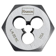 """IRWIN High-Carbon Steel Fractional Hexagon Die, 1/4""""-20, 1"""" Diameter"""