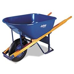 Contractor's Wheelbarrow, 6 Cubic Feet Capacity, Steel Tray, Flat-Free Wheel