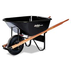 Contractor's Wheelbarrow, 6 Cubic Feet Capacity, Steel Tray