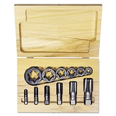 HANSON Tap & Die Set, Steel, 12 Pieces