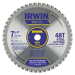 "IRWIN 48T Metal Cutting Circular Saw Blade, Ferrous Steel, 7-1/4"" Diameter"